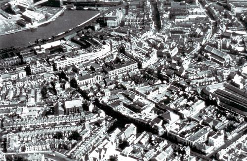 Aerial View of Swansea Including The Market