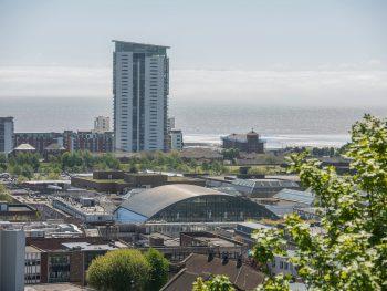 Swansea Market - aerial