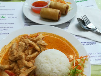 Meal of Thai food