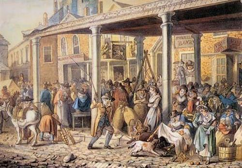 Market hall circa 1799